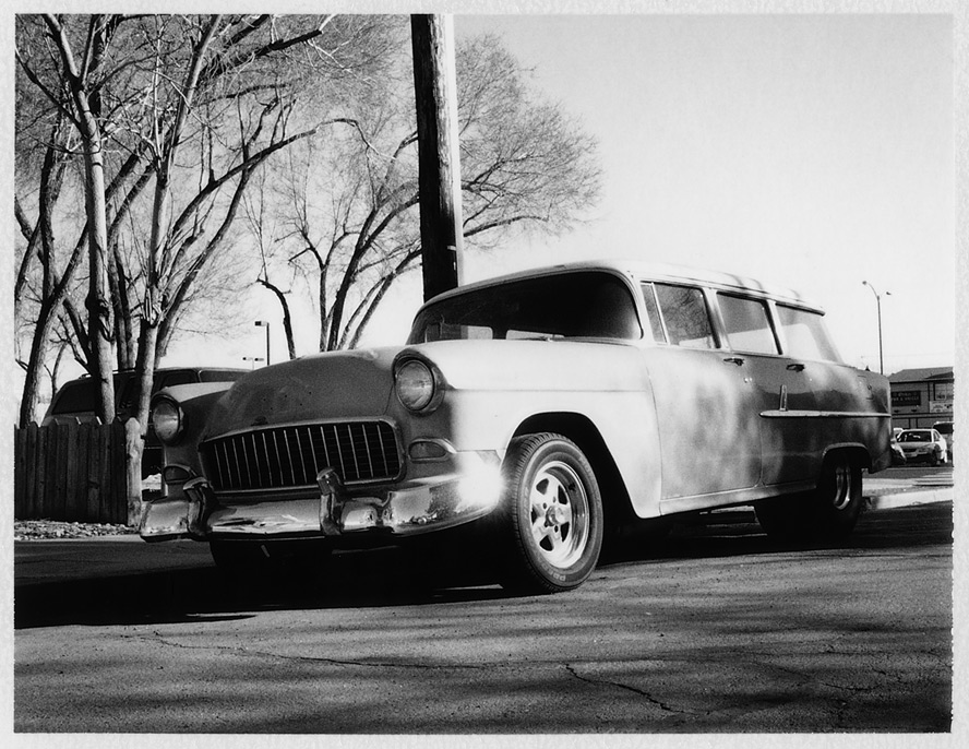 Chevy Wagon, Sparks, NV, Andrew D. Barron©2/15/13 [Polaroid Automatic Land Camera 450: FP3000B]