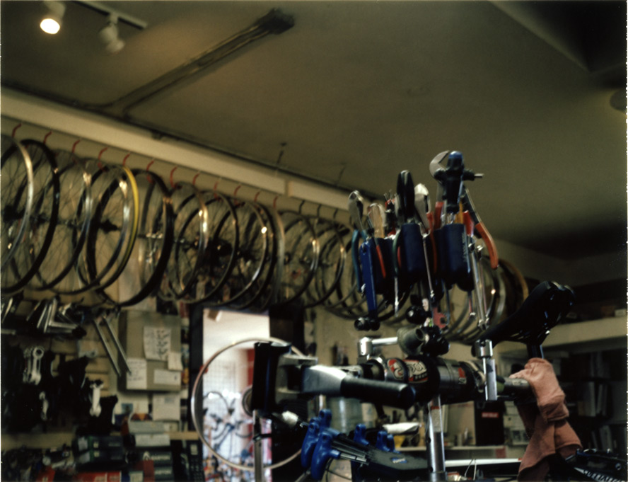 College Cyclery tools, Reno, NV, Andrew D. Barron©2/13/13 [Polaroid Automatic Land Camera 450: FP100C]