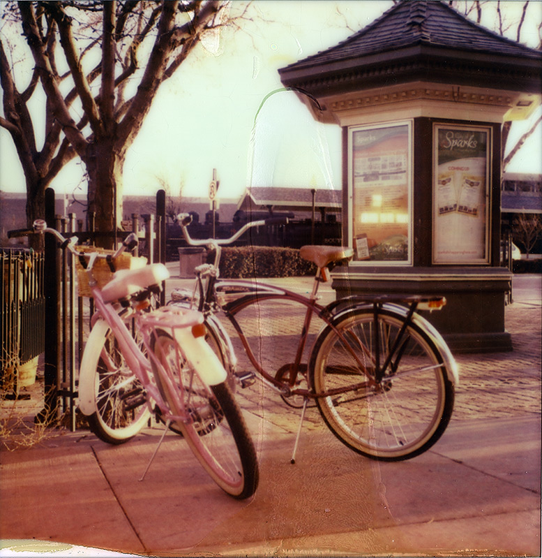 Great Basin Bikes, Reno, NV, Andrew D. Barron©3/4/13 [Polaroid SX-70; Impossible Color protection film]