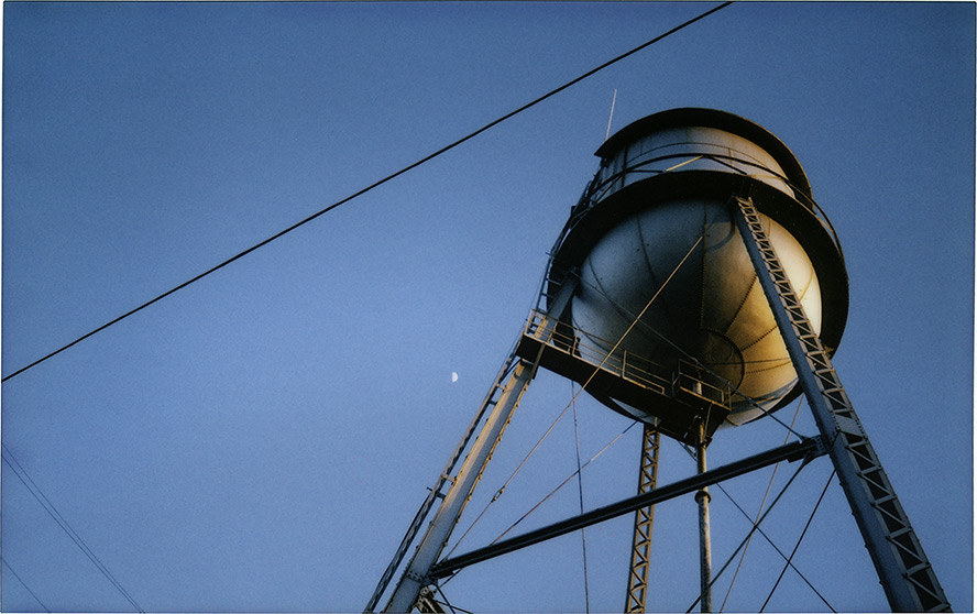 Lockeford Water Tower, CA, Andrew D. Barron©5/18/2013 [Fuji Instax 210: Instax Wide]