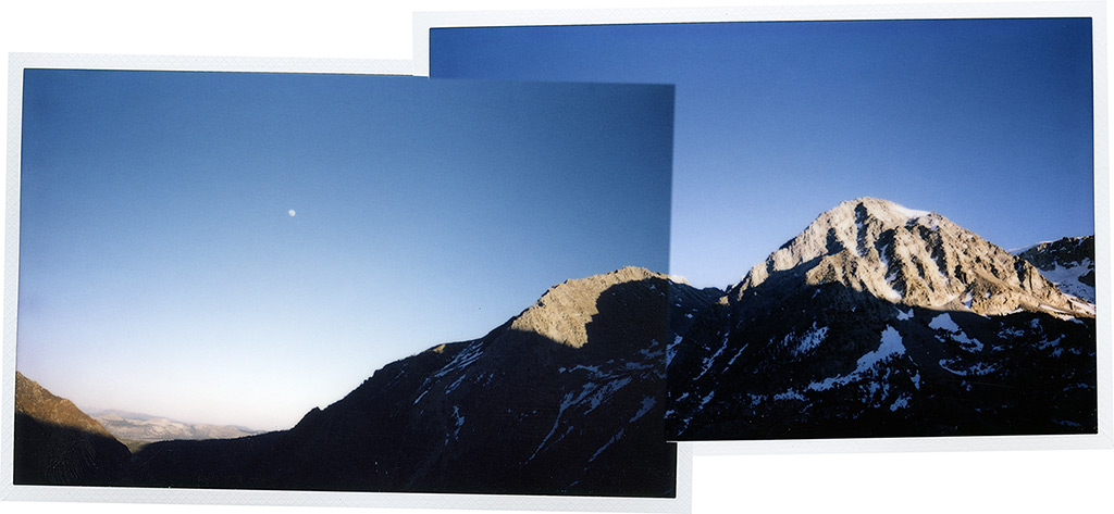 Tioga Pass and moonrise over Mono Lake, Andrew D. Barron©5/29/13 [Instax 210; Instax Wide]