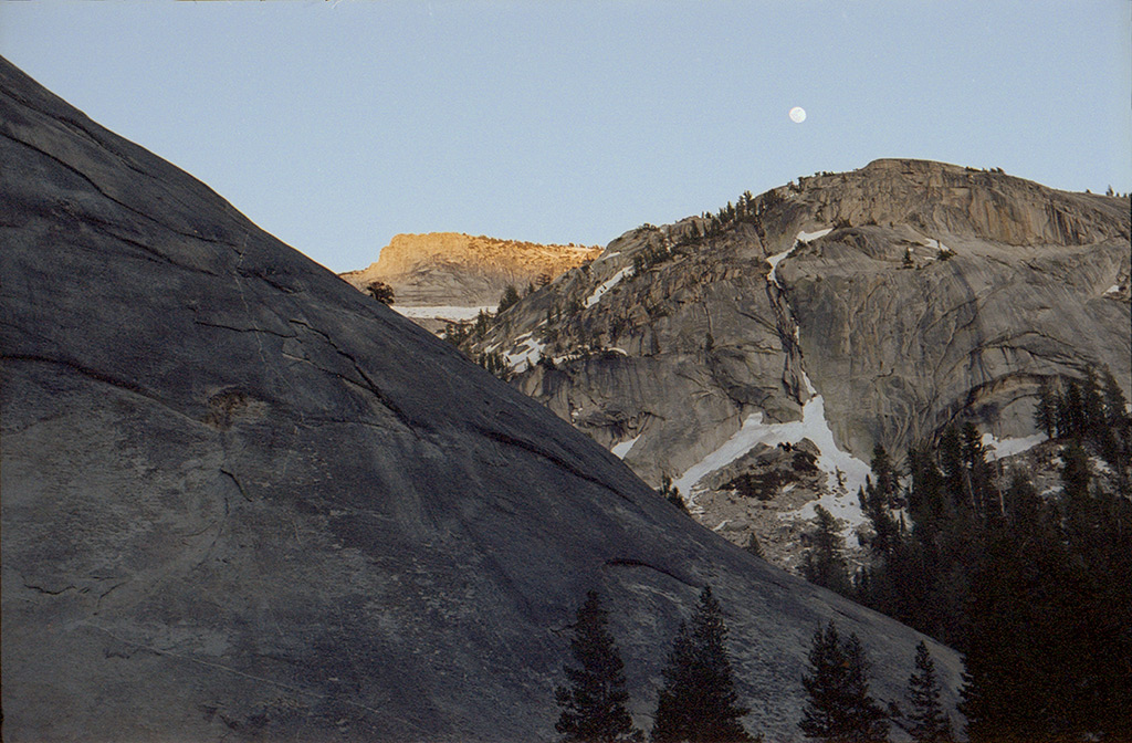 Moonrise above the batholith, Andrew D. Barron©5/29/13 [Leica IIIf, Summitar ƒ2.0, Portra 400]