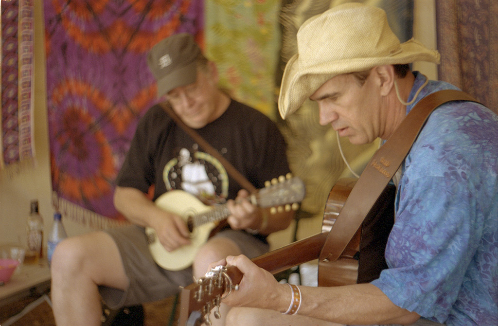 Bill McKean and Randy, Strawberry Music Fest camp, Andrew D. Barron©5/31/13 [Leica IIIf, Summitar ƒ2.0, Portra 400]