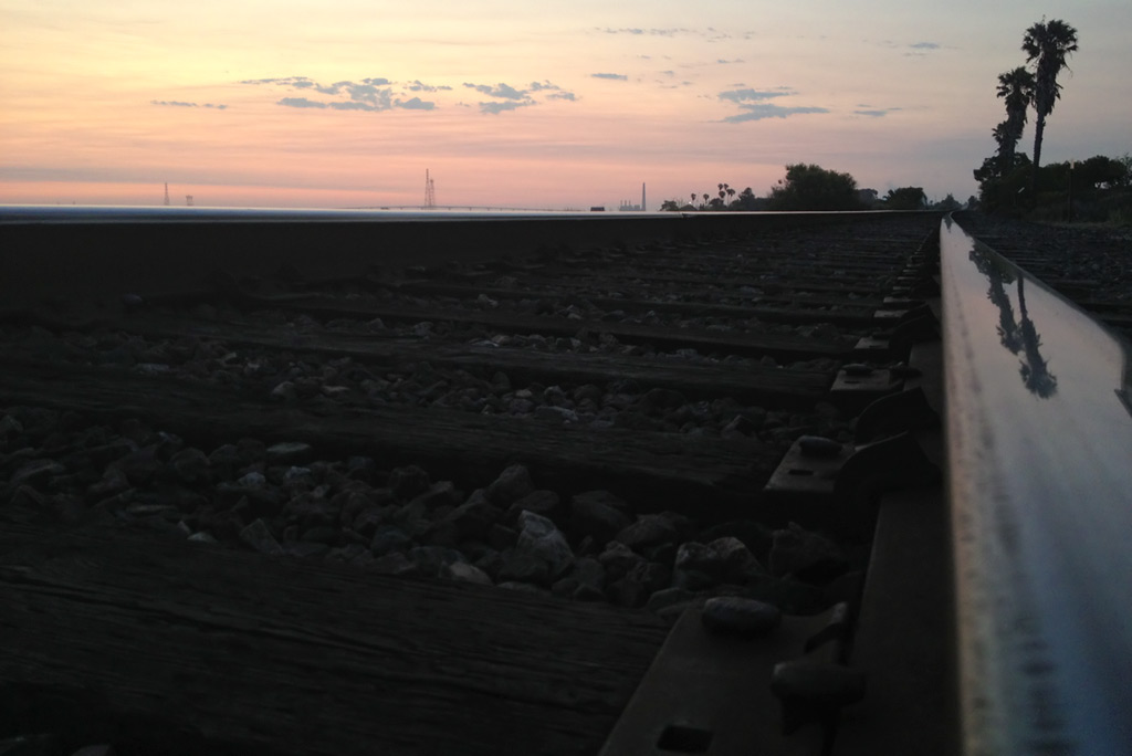 Daybreak on the tracks at Antioch, Andrew D. Barron©7/20/13 [iPhone 4S:645 Pro]