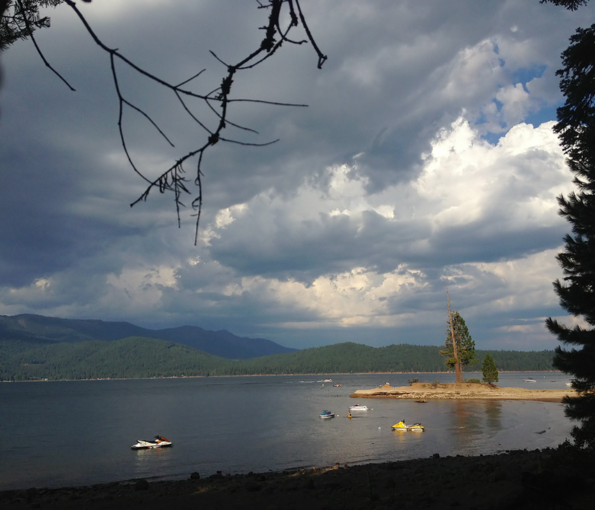 Arriving at Rocky Point, Almanor, Andrew D. Barron©7/25/13 [iPhone 4S:645 Pro]
