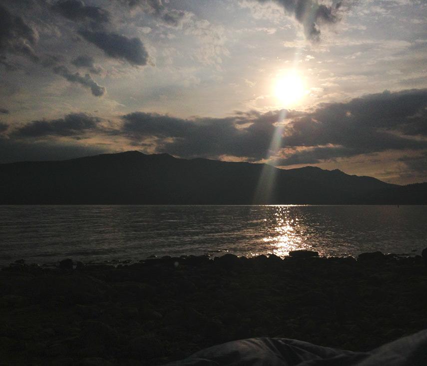 Rocky Point lake view sunrise, Almanor, Andrew D. Barron©7/26/13 [iPhone 4S:645 Pro]