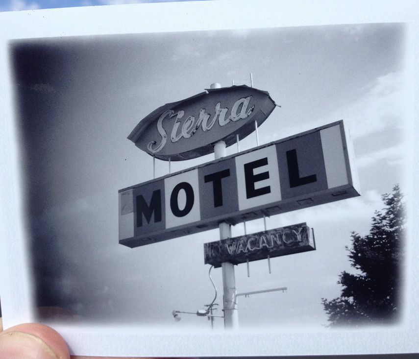 Sierra Motel sign, Chester, CA, Andrew D. Barron©7/26/13 [iPhone 4S:645 PRO]