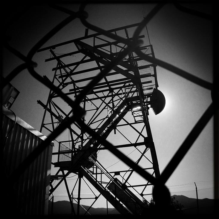Hat Creek Rim antennae, Andrew D. Barron©8/1/13 [iPhone 4S:Hipstamatic]