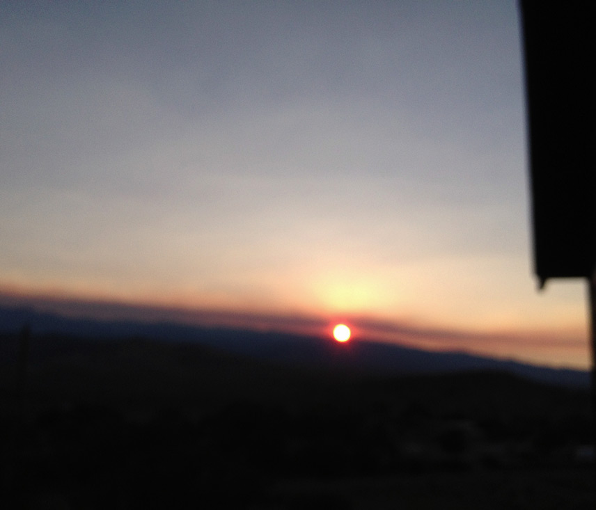 Smoky sunset, Andrew D. Barron©8/5/13 [iPhone 4S:645 PRO]