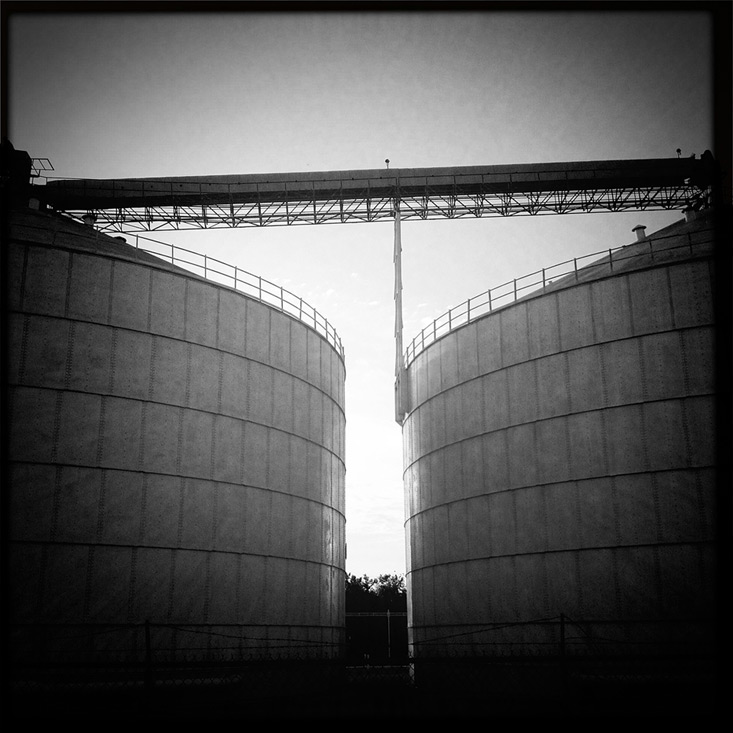Riverfront Silos, Henderson KY, Andrew D. Barron©8/20/13 [iPhone 4s;Hipstamatic]