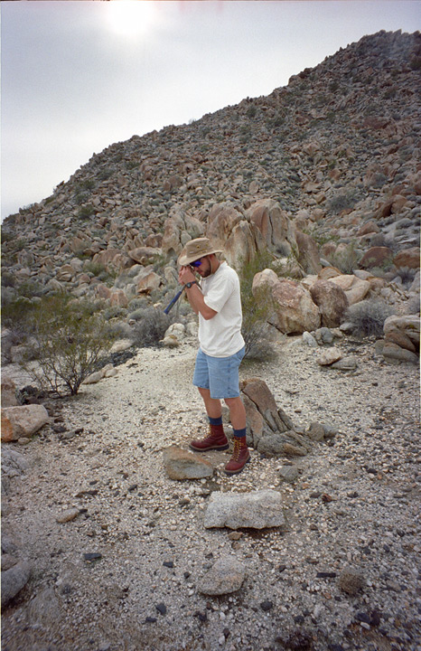 Andrew looks at rocks, Andrew D. Barron©1/03/95