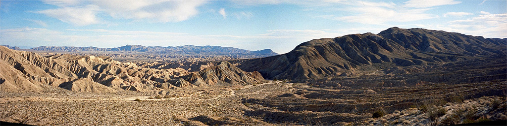 Canyon Sin Nombre overlook from S2, Andrew D. Barron©1/7/95