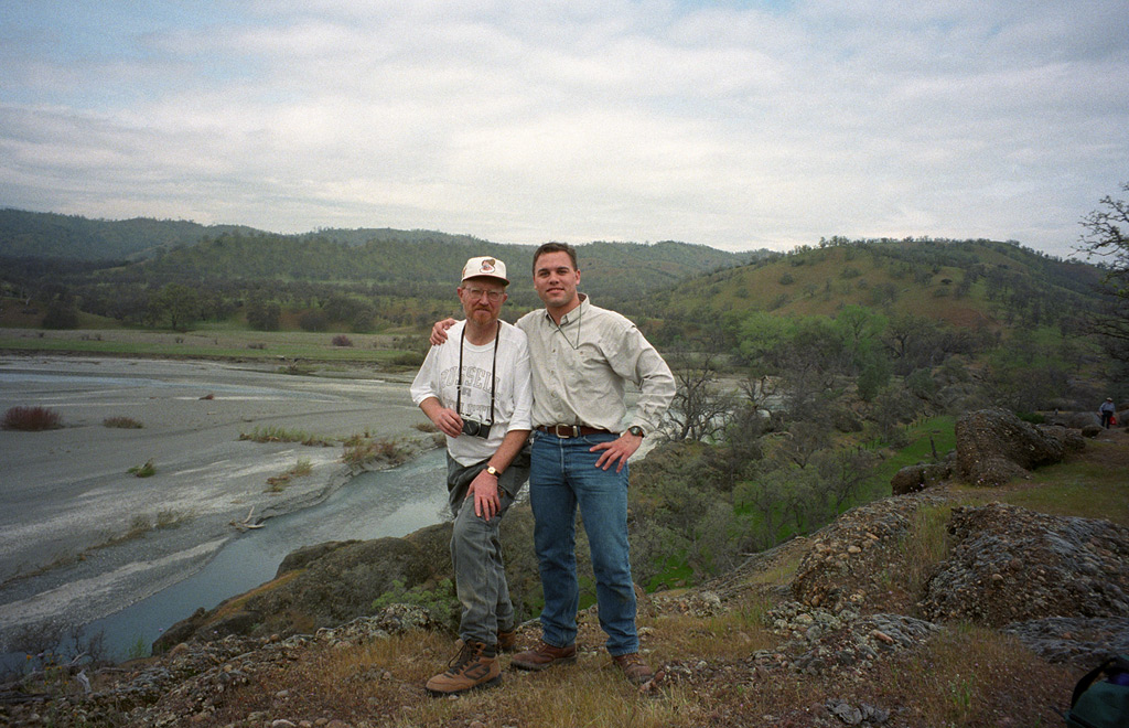 With Doc Russell at Julian Rocks on Stony Creek, Glenn County, CA, Andrew D. Barron©3/1997